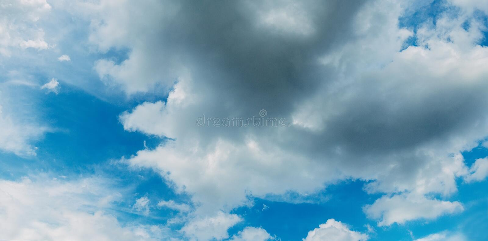Sky clouds climate ozone. Overcast outdoors space royalty free stock photo