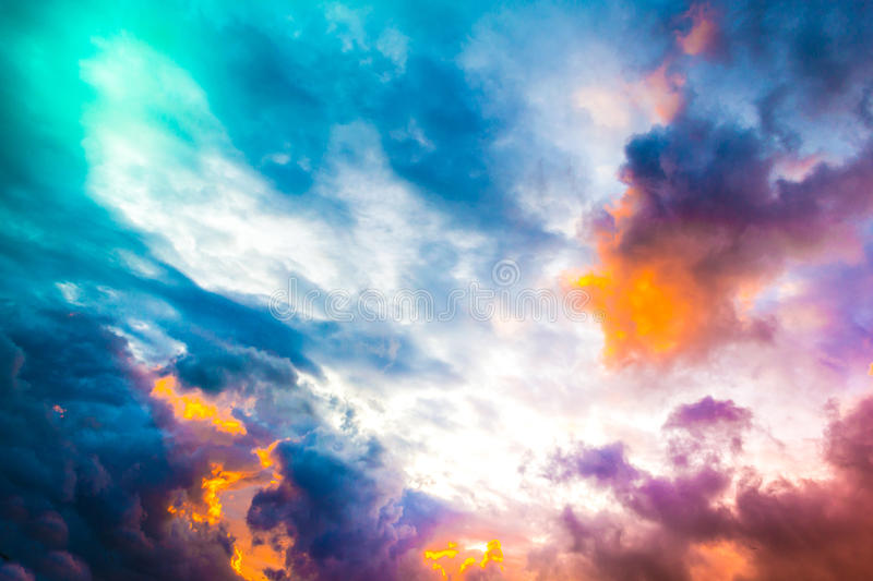 Sky and clouds. Colorful of sky with clouds in the evening