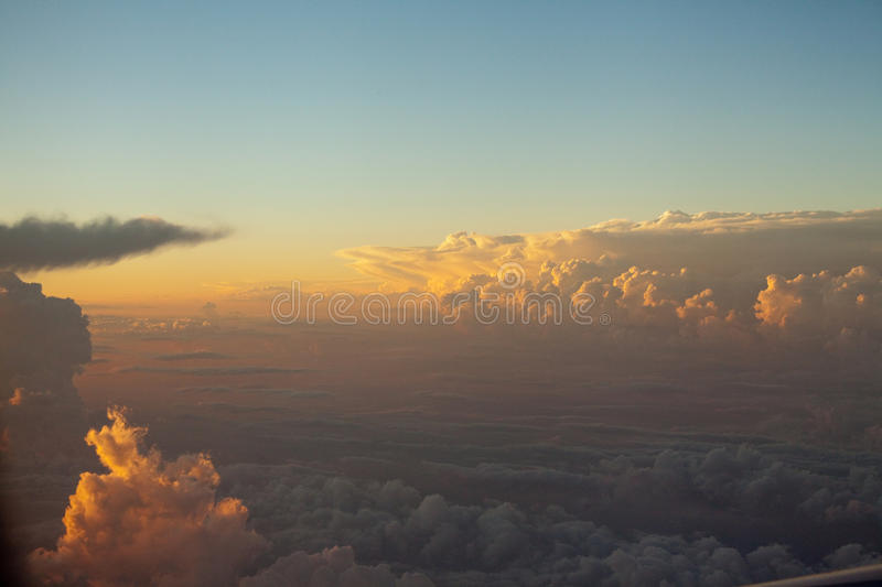 Sky and clouds colorful sunset cloudscape in Himalayan range stock photos