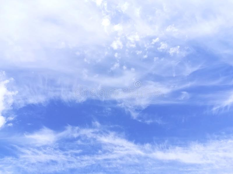 Sky clouds day light blue white heaven royalty free stock images