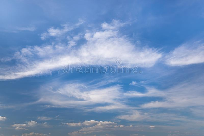 Sky with clouds in summer for background pictures stock photos