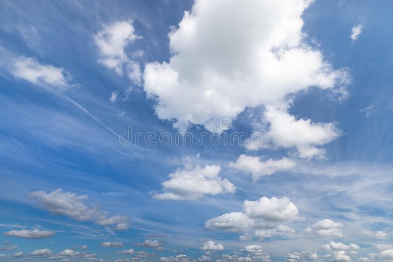 Sky with clouds in summer for background pictures royalty free stock photos