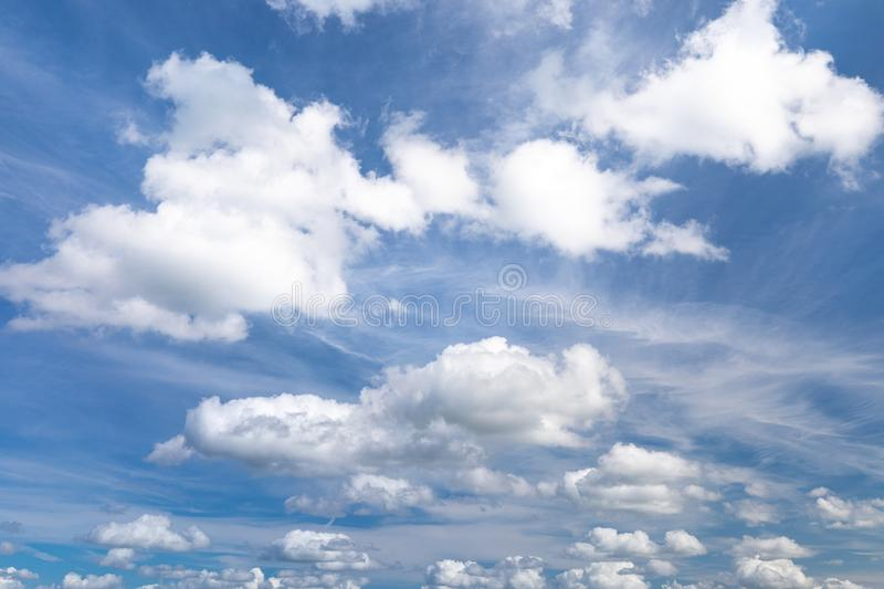 Sky with clouds in summer for background pictures royalty free stock images