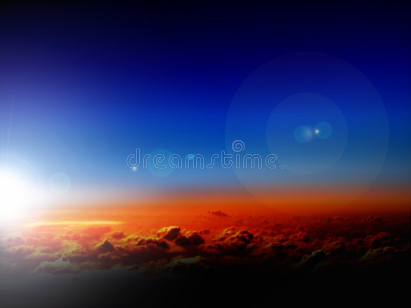 Sky and clouds in sunrise stock photography