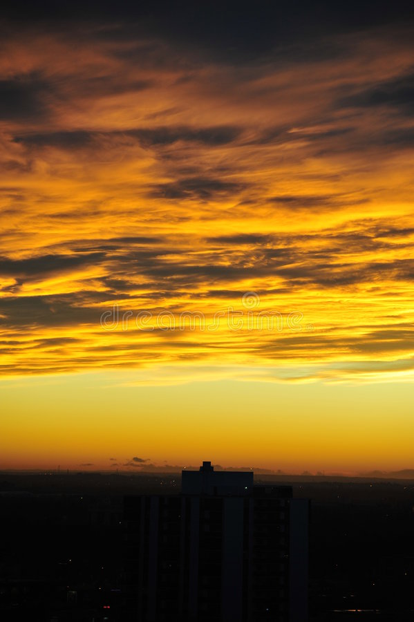 Sky and clouds after sunset royalty free stock photography