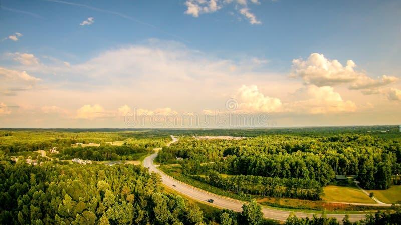Sky and clouds sunset landscape over york south carolina royalty free stock photos