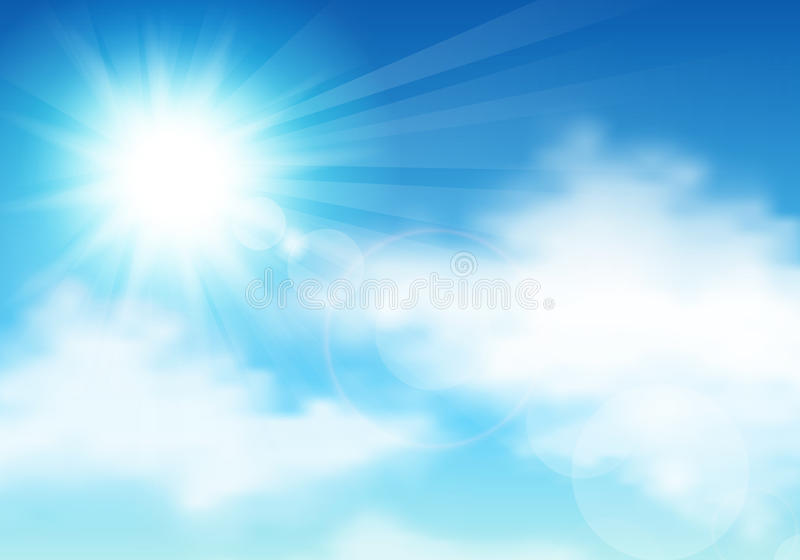 Sky and clouds stock illustration