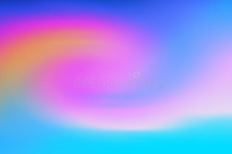 Sky colored blurred and twisted gradient royalty free stock image