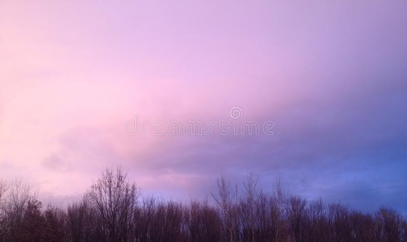 Sky colors royalty free stock photos