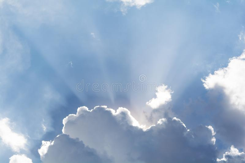 Sky colors and patterns. stock photography