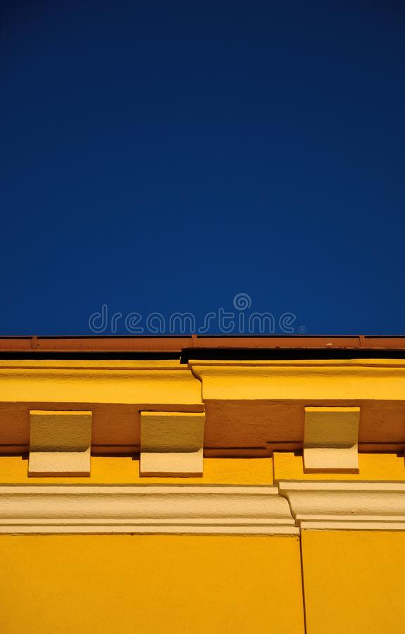 Sky with coloured wall in contrast royalty free stock image