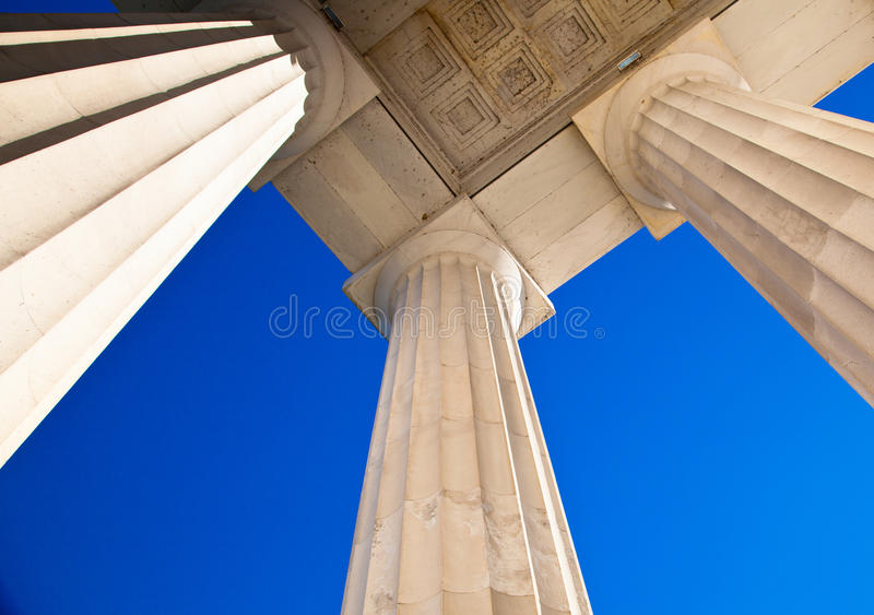 Sky and columns royalty free stock photo