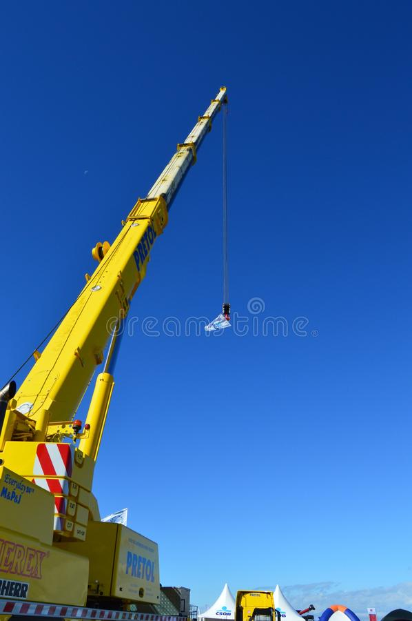 Sky, Crane, Construction Equipment, Daytime royalty free stock images