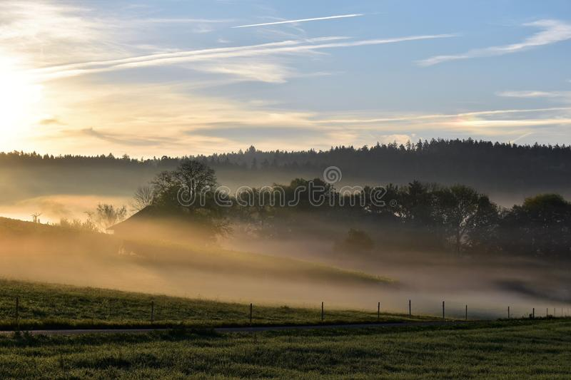 Sky, Dawn, Mist, Morning royalty free stock photo