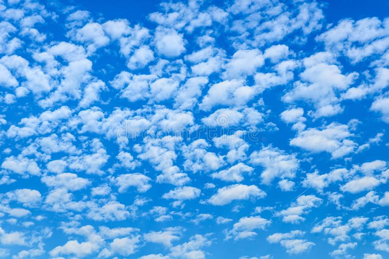 Sky days are a little cloud in the blue sky royalty free stock images