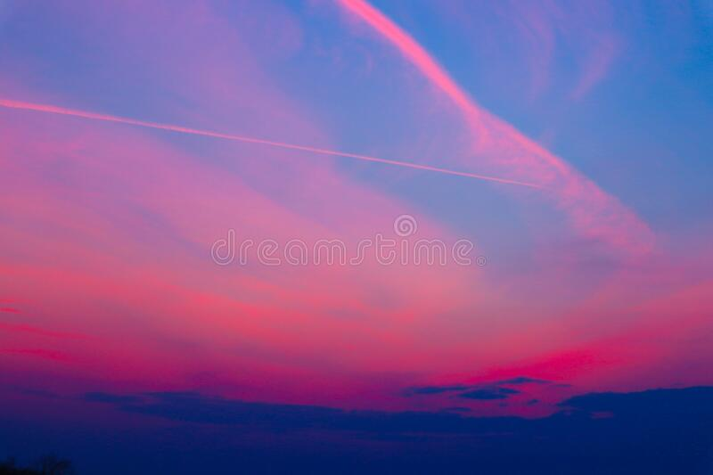 The Sky in different colors.  royalty free stock photography