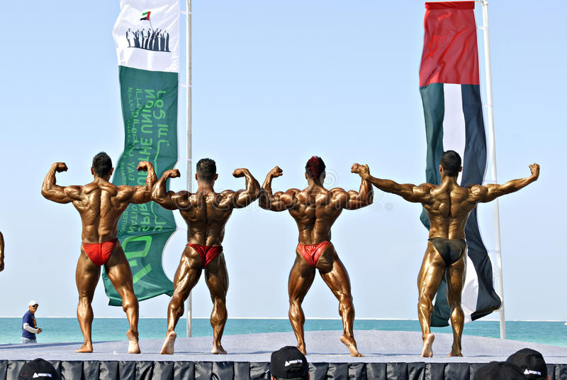 SKY DIVE DUBAI Bodybuilding Championship 18 stock photography