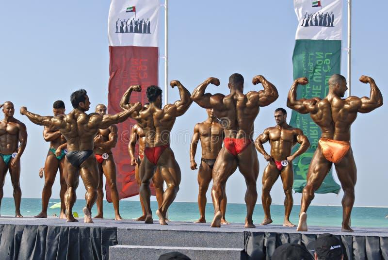 SKY DIVE DUBAI Bodybuilding Championship 2 stock photo