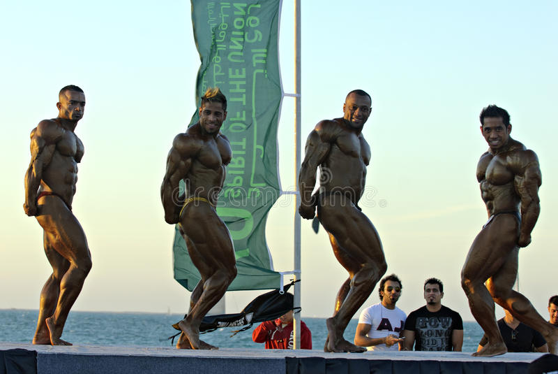SKY DIVE DUBAI Bodybuilding Championship 5 stock photos