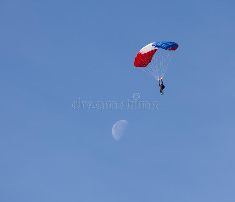 Download Sky Diving stock image. Image of chute, moon, tuffet - 29097075