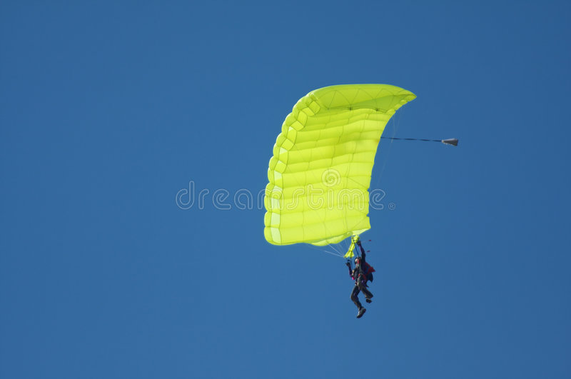 Sky diving stock photos