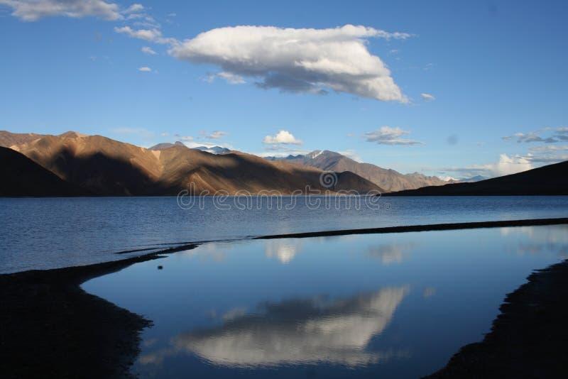 Sky dolfin. Pangong Lake in high mountens (4200 m), Ladakh, India stock image