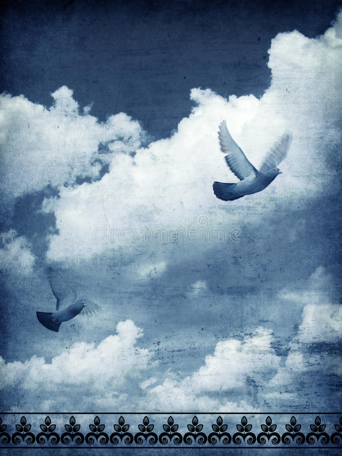 Download Sky and doves stock image. Image of cloud, dove, background - 28019469