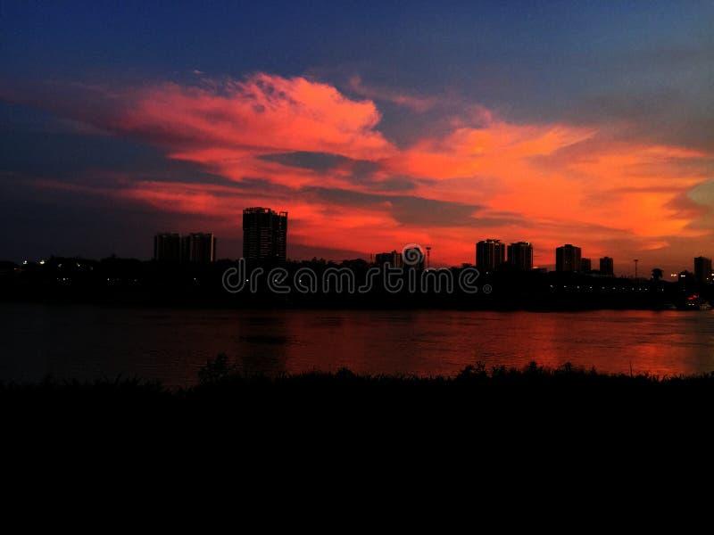 Sky at dusk royalty free stock photography