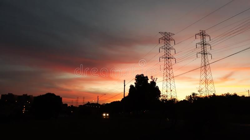 Sky, Electricity, Afterglow, Cloud royalty free stock photo