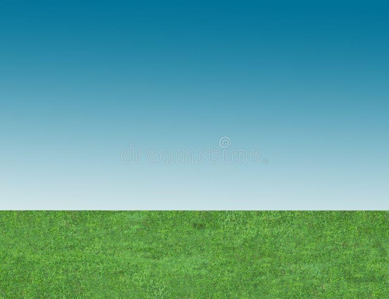 sky för bakgrundsblågräsgreen arkivfoton