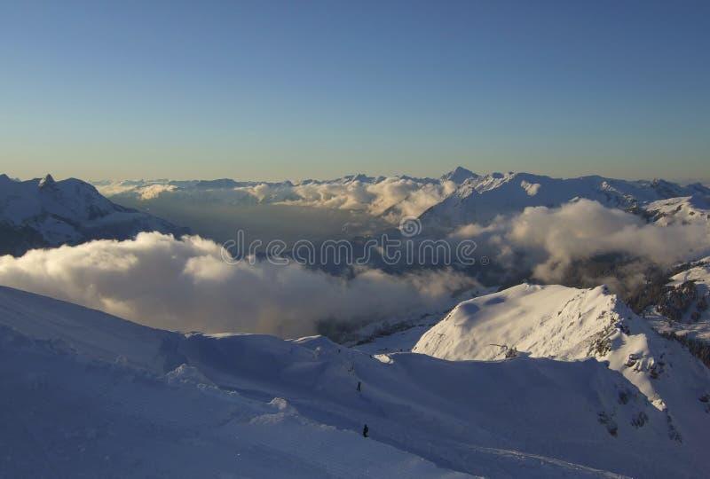 sky för haslibergmeiringensemesterort royaltyfri foto