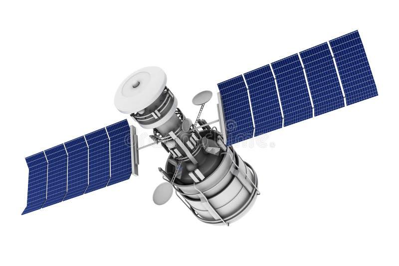 sky för kommunikationsaftonsatellit stock illustrationer