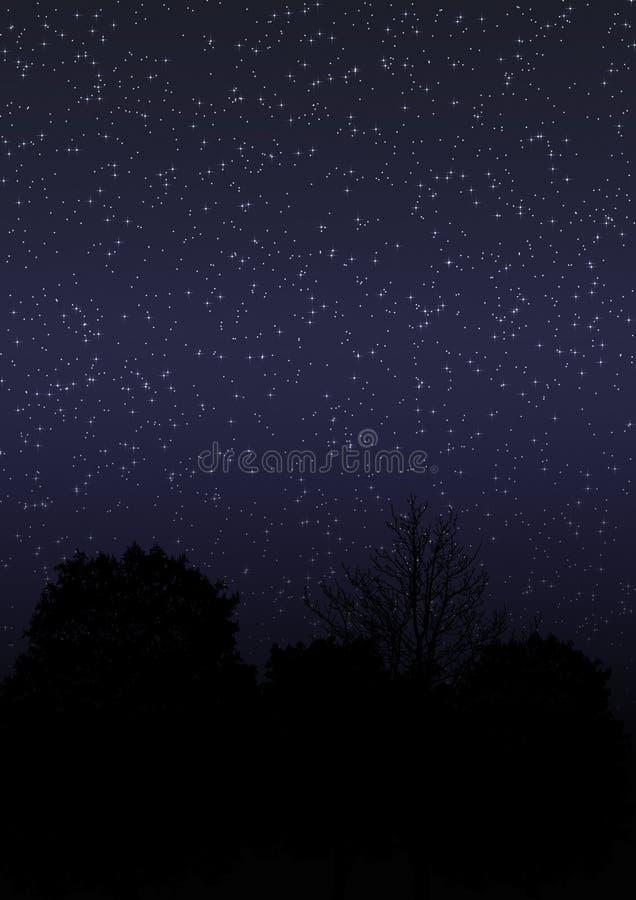 sky för natt 01 vektor illustrationer
