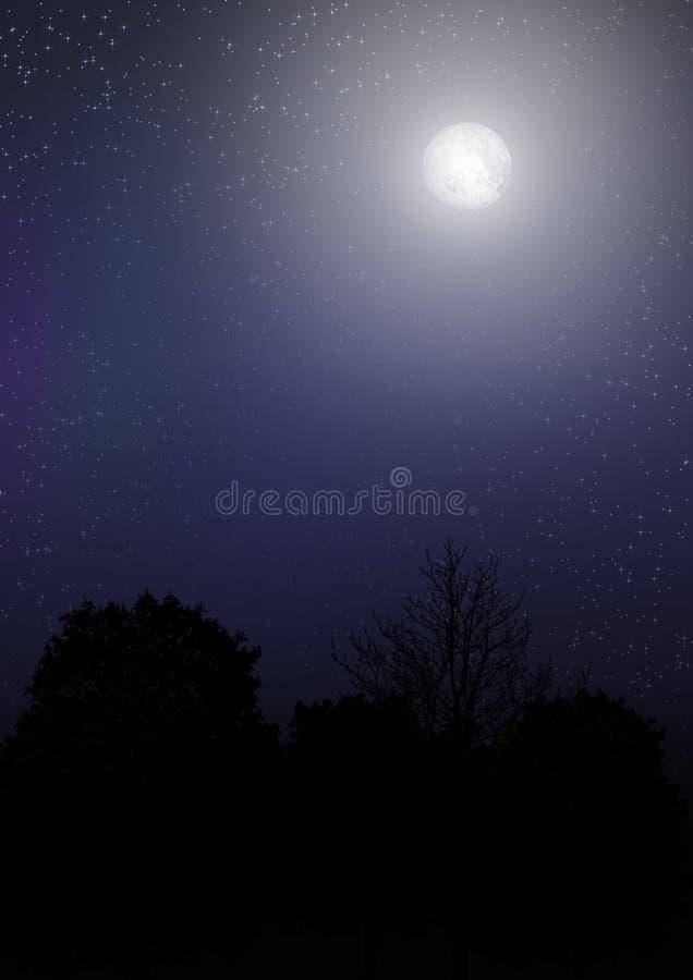 sky för natt 02 vektor illustrationer