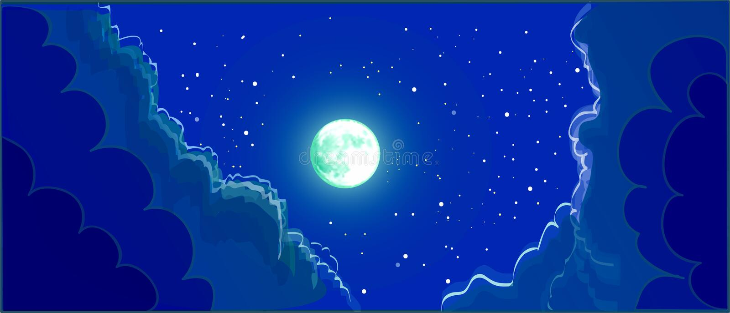 sky för natt för abstraktionillustrationblixt vektor illustrationer