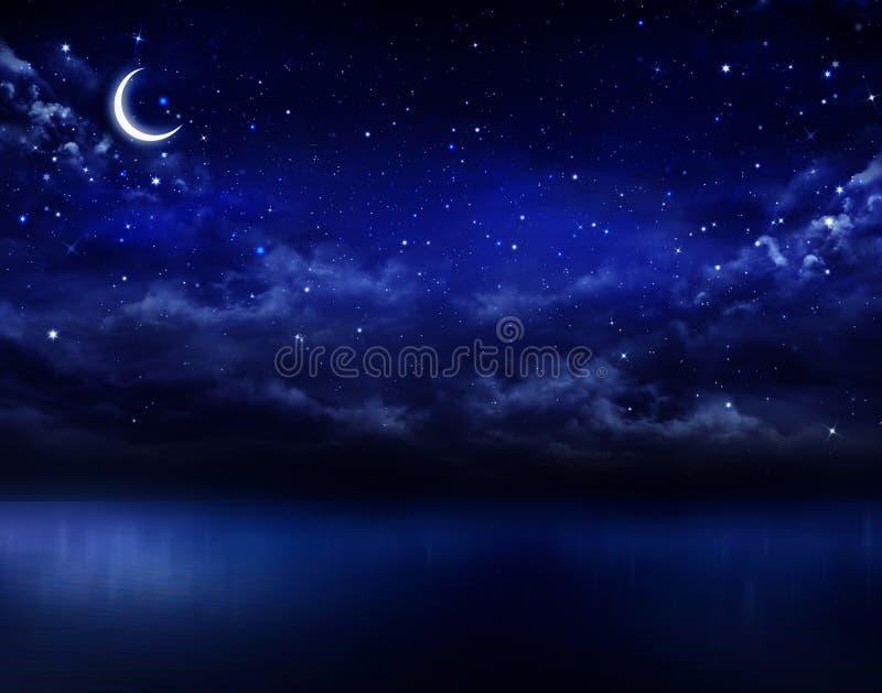 sky för natt för abstraktionillustrationblixt royaltyfri illustrationer