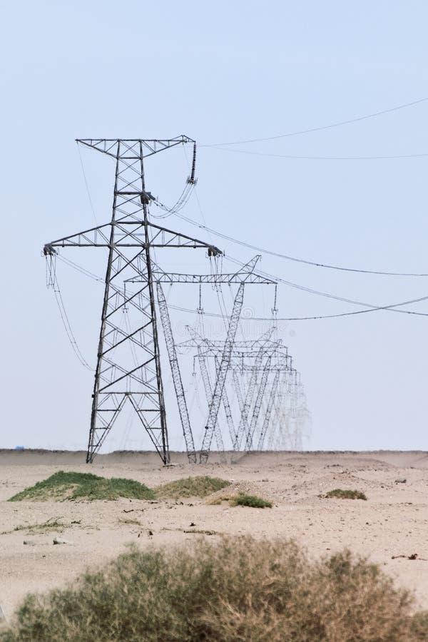 sky för pylons för arrayclearöken elektrisk royaltyfria bilder