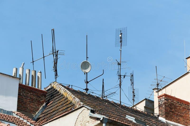 sky för tak för antennbakgrund blå royaltyfria bilder