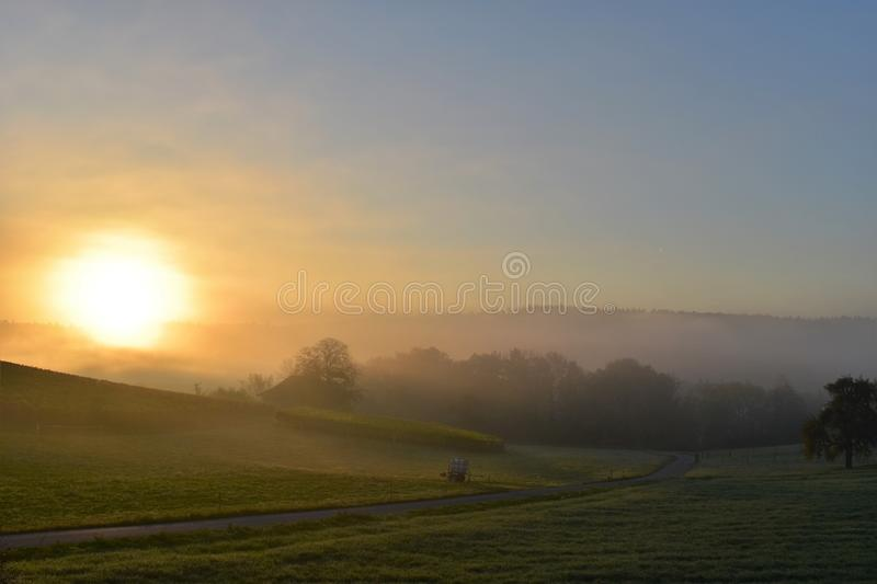 Sky, Field, Dawn, Morning royalty free stock image