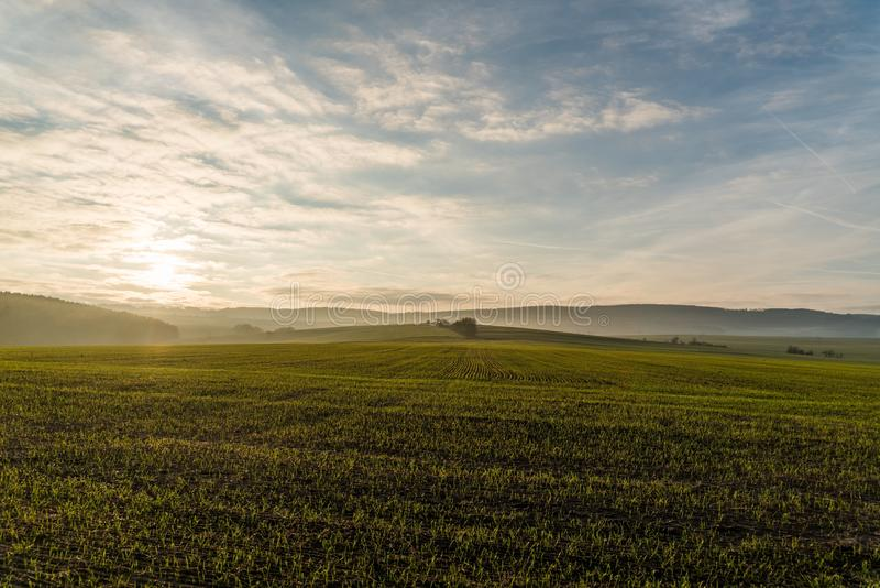 Sky, Field, Grassland, Plain stock photos