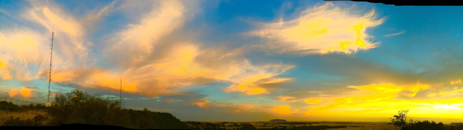 Sky is on fire royalty free stock images
