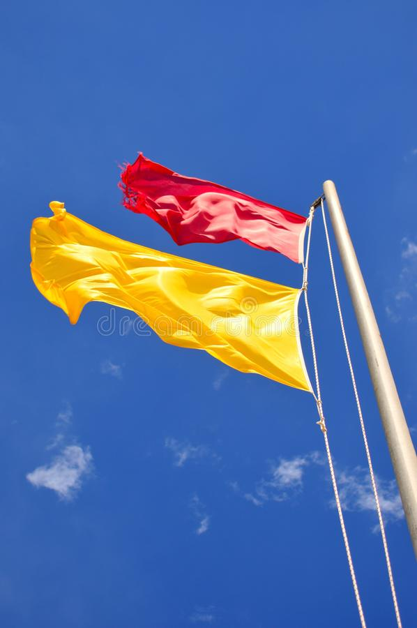 Sky, Flag, Yellow, Daytime stock photo