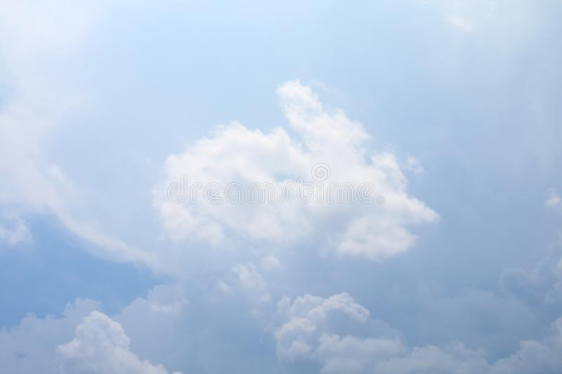 Sky, sky with fluffy clouds big, sky blue cloud background, cloudscape sky clear stock photography