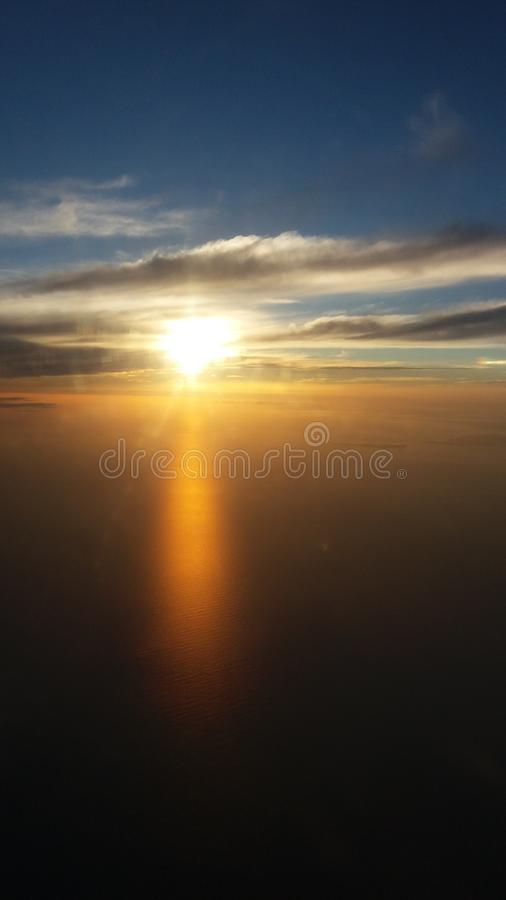 Sky from fly royalty free stock images
