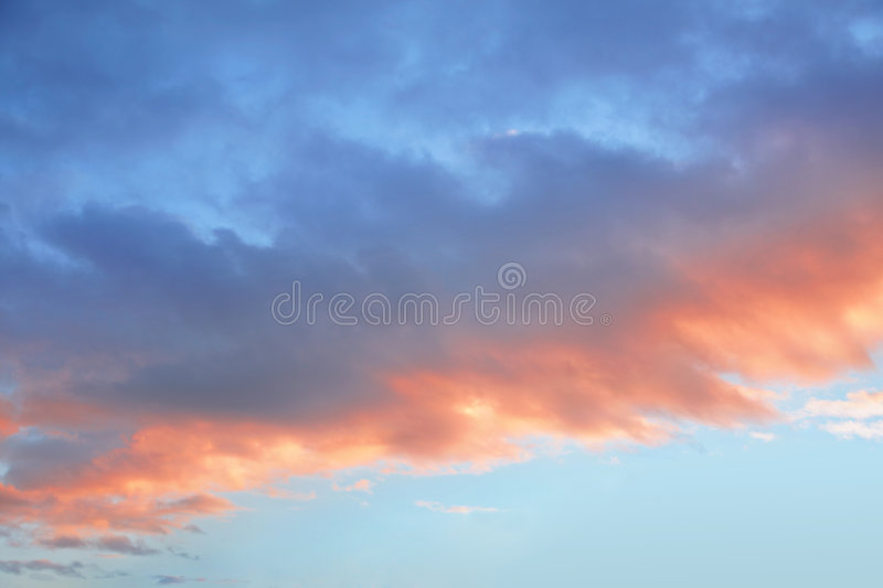 Sky front cloud sunset. Sky front a cloud sunset royalty free stock photography