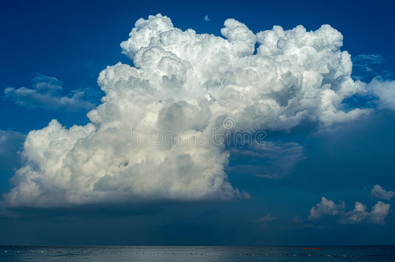 Sky full of clouds. Sky full of deep thunder clouds stock photo