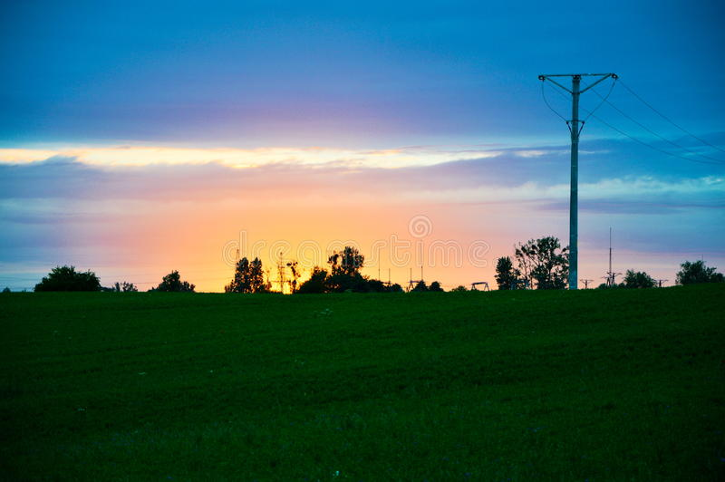 Sky full of colors royalty free stock image