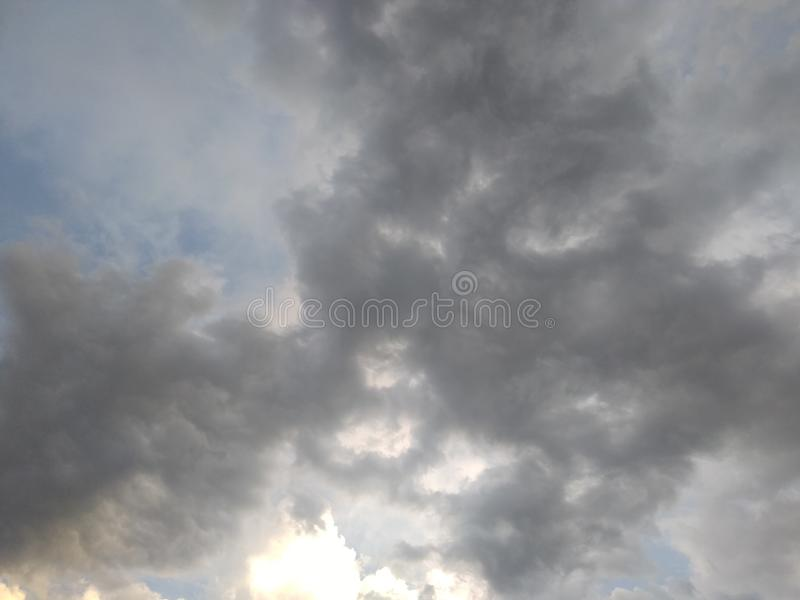 Sky full of dark clouds stock image