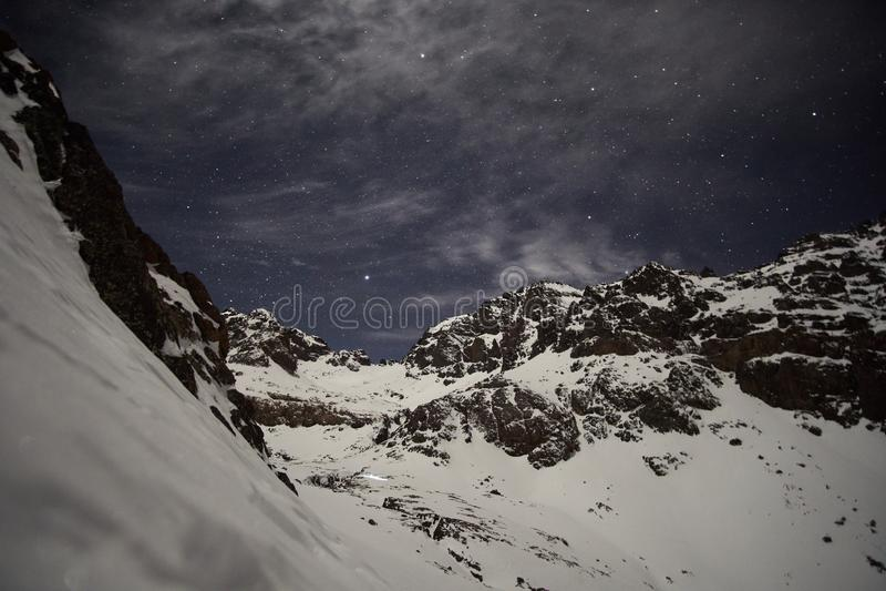Sky full of stars in High Atlas royalty free stock photos
