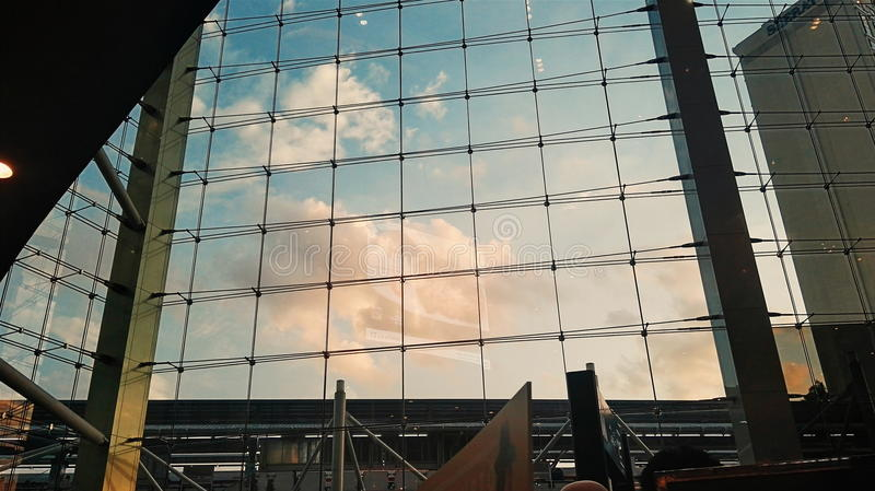Sky on Glass stock photography